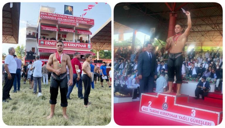 Büyükşehir Güreşçisi Kırkpınar'da Birinci Oldu